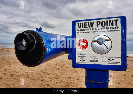 View Point telescope at Bournemouth beach, Dorset, England, UK. - Stock Photo
