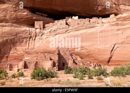 White House Ruins at Canyon De Chelly National Monument on the Navajo Reservation in Arizona. - Stock Photo