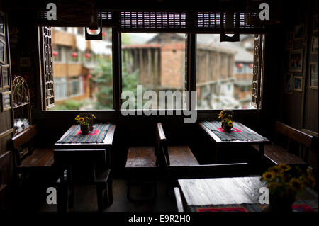 Trekking Lodge, Longsheng Rice Terrace, Dragon's Backbone, Longji, China. - Stock Photo