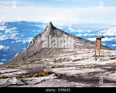 Mount Kinabalu, the highest peak in the Malay Archipelago, Sabah, East Malaysia. - Stock Photo