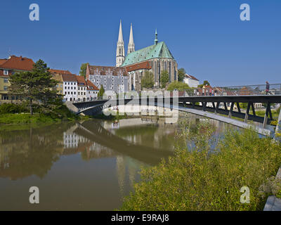 Old town with Church of St. Peter and Paul in Görlitz, Germany - Stock Photo