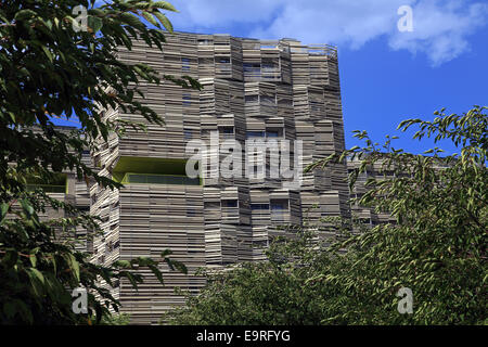 Eco-neighborhood labeled New Urban Area, Clichy-Batignolles, Paris, France - Stock Photo