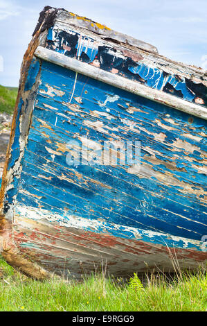 Fisherman's fishing boat at Old Dornie Harbour on the West Coast of SCOTLAND - Stock Photo
