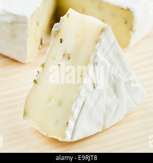 gourmet  cheese Camembert close up - Stock Photo