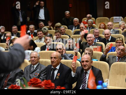 Minsk, Belarus. 1st Nov, 2014. Participants in the 35th Congress of the Communist Parties Union. © Viktor Drachev/TASS/Alamy - Stock Photo