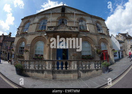 The front facade of Corsham Town Hall in Corsham, Wiltshire - Stock Photo