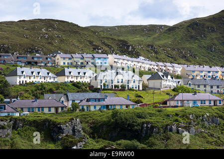 Modern housing estate homes at Mallaig on the West Coast of Highlands of SCOTLAND - Stock Photo