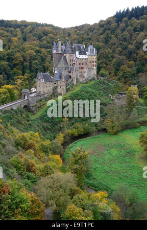 ELTZ CASTLE. Rhineland-Palatinate, Germany. - Stock Photo