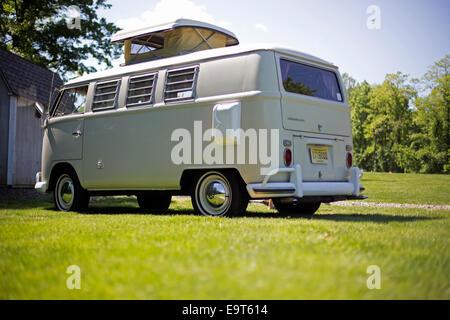 Vintage VW van - Stock Photo