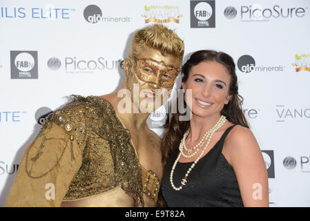 London, UK. 01st Nov, 2014. Jan Anderson attends MyFaceMyBody Awards 2014 at the Royal Garden Hotel in Kensington - Stock Photo