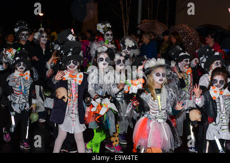 Stock Photo - Participants wearing spooky costumes during the annual Halloween parade. ©George Sweeney/Alamy - Stock Photo