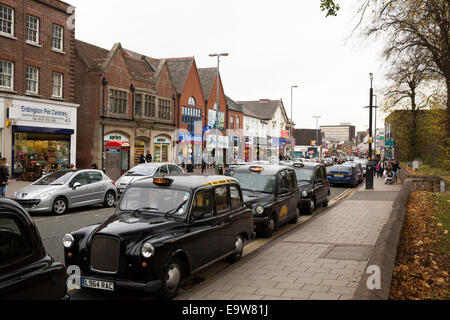 The view along a busy Erdington High Street near Birmingham. The area is planned for development in 2015 - Stock Photo