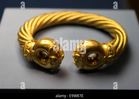 The Great Torc from Snettisham, Iron Age, about 75 BC, Found at Ken Hill, Snettisham, Norfolk, England now located - Stock Photo