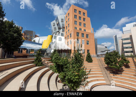 Auditorium in the Ray and Maria Stata Center or Building 32,  designed by Frank Gehry, Cambridge, Massachusetts. - Stock Photo