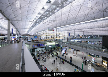 Entrance at Hong Kong International Airport. - Stock Photo