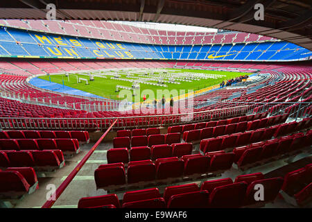 Camp Nou, Stadium of Football Club Barcelona on December 19, 2011 in Barcelona, Spain. - Stock Photo