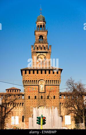 Vittorio Emanuele gallery and Duomo in Milan, Italy - Stock Photo