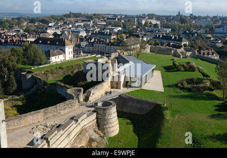 falaise town centre, normandy, france - Stock Photo