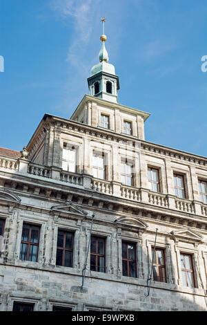 Old city hall in Nuremberg, Bavaria, Germany. - Stock Photo
