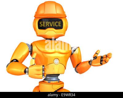 Robot-repairman - Stock Photo