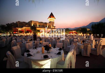 Gala Night dinner at the Gueral Premier Resort in Tekirova,Antalya,Turkey, - Stock Photo