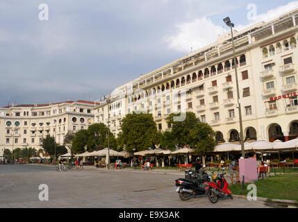 Aristotelous Square in Thessaloniki, Greece - Stock Photo