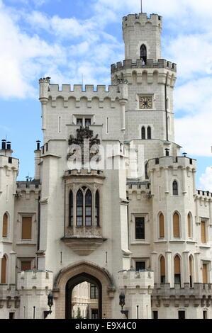 Hluboka castle, Czech Republic - Stock Photo