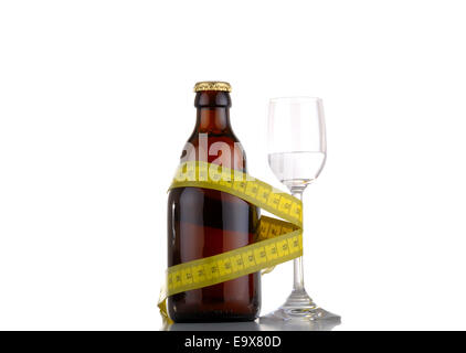 Beer and liquor diet concept ;-) - Stock Photo