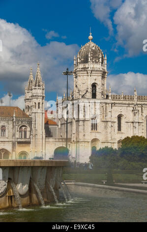 Vertical view of Jeronimos Monastery in Belem, Lisbon. - Stock Photo