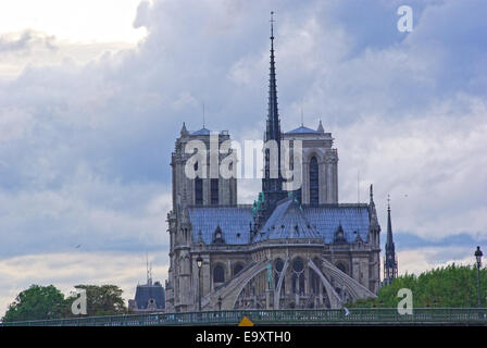 Notre Dame Cathedral in Paris. - Stock Photo