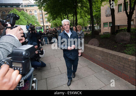 Celebrity publicist Max Clifford arrives at Southwark Crown Court for sentencing after being found guilty of indecent - Stock Photo