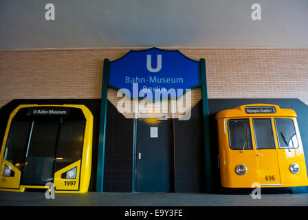 Bahn-Museum, Train Museum, Olympia-Stadion S-bahn station, Westend, Charlottenburg, Berlin, Germany - Stock Photo