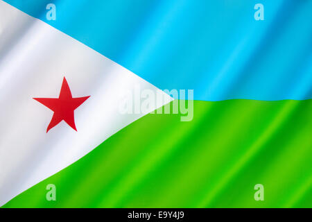 Flag of Djibouti - Stock Photo