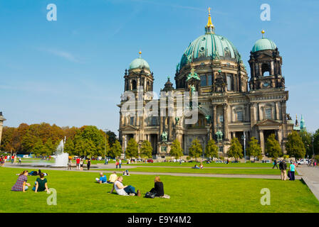 Lustgarten park, in front of Berliner Dom, Berlin Cathedral, Museumsinsel,museum island, Mitte district, central - Stock Photo