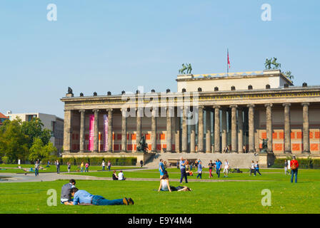 Lustgarten park, in front of Altes Museum, Museumsinsel, the museum island, Mitte district, central Berlin, Germany - Stock Photo