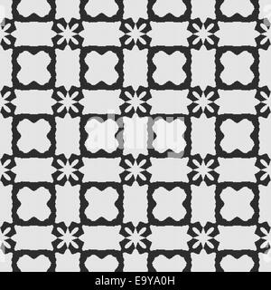 White Lace Curtain Abstract Seamless Pattern On A Black Background ...