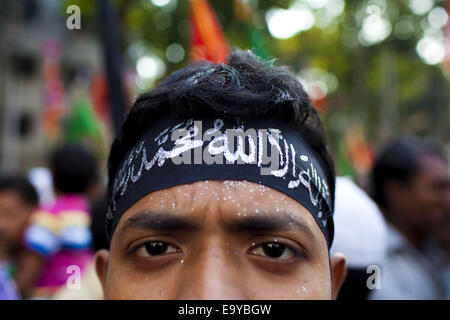 Nov. 4, 2014 - Dhaka, Bangladesh - Bangladesh Shiites celebrate Ashura on 10th of Muharram, the first month of the - Stock Photo