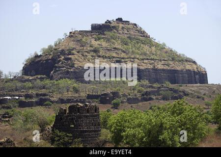 Devgiri Daulatabad Fort, Aurangabad, Maharashtra, India. - Stock Photo
