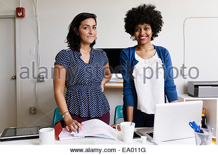 Female colleagues in Small Business, Start-up - Stock Photo