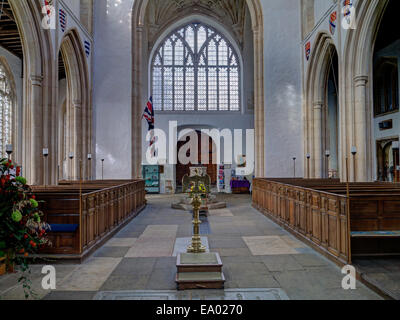 The interior of the church of St Mary and All Saints in the village of Fotheringhay, Northamptonshire, UK - Stock Photo