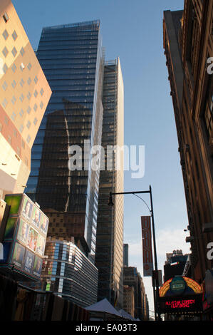 8thavenue. Eighth Avenue is a north-south avenue on the west side of Manhattan in New York City, carrying northbound - Stock Photo