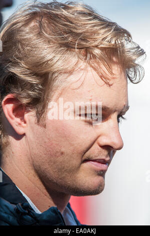 Nico Rosberg, driver for the Mercedes AMG Petronas Formula 1 team, seen at Circuit of the Americas, Austin, Texas. - Stock Photo