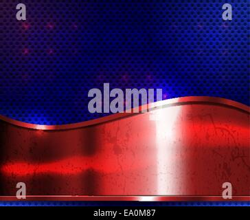 vector grunge metal background with copy space, eps10 file, transparency and blend modes used - Stock Photo