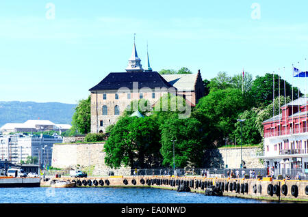 View on Akershus Fortress Oslo Norway - Stock Photo