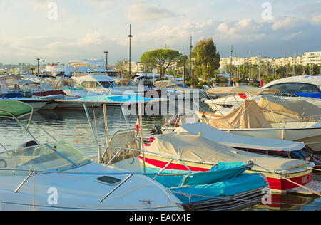 Luxury yachts in Cannes - Stock Photo
