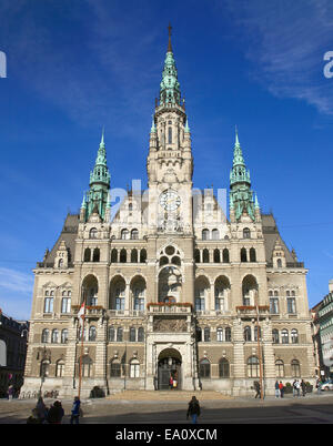 Reichberg, Czech Republic. 27th Oct, 2014. A view of the entrance facade of the town hall in Reichberg, Czech Republic, - Stock Photo