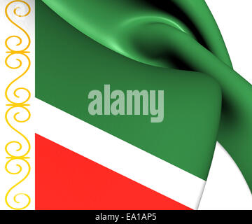 Flag of Chechen Republic - Stock Photo