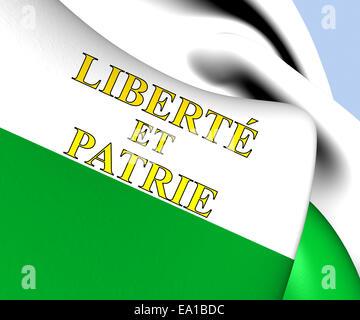 Flag of Vaud - Stock Photo