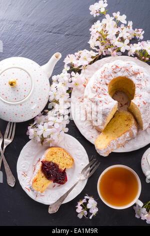 Saffron Easter Babka - Stock Photo