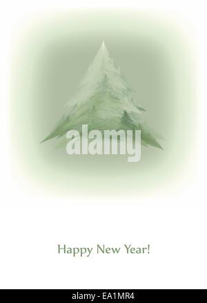 minimalist new year card vintage style stock photo